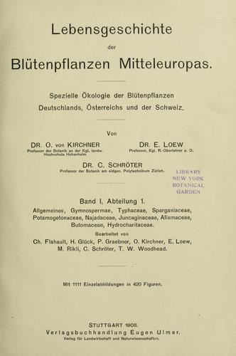 Lebensgeschichte der Blütenpflanzen Mitteleuropas