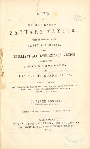 Download Life of Major General Zachary Taylor