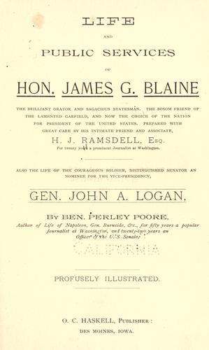 Download Life and public services of Hon. James G. Blaine …