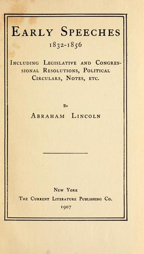 Life and works of Abraham Lincoln.