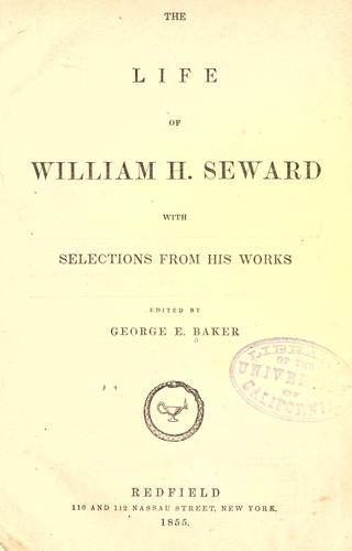Download The life of William H. Seward with selections from his works