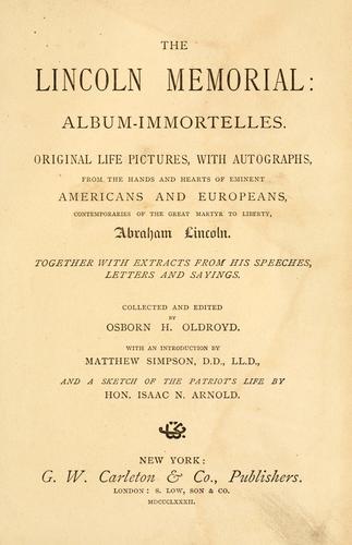 The Lincoln memorial: album-immortelles.