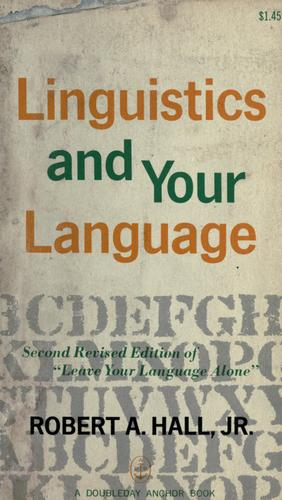 Download Linguistics and your language.
