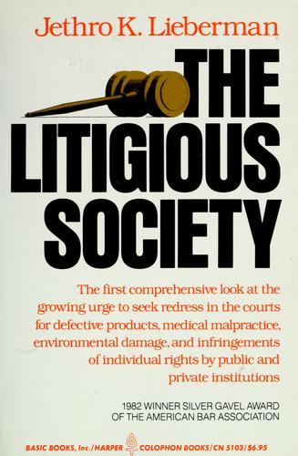 The litigious society