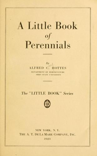 Download A little book of perennials