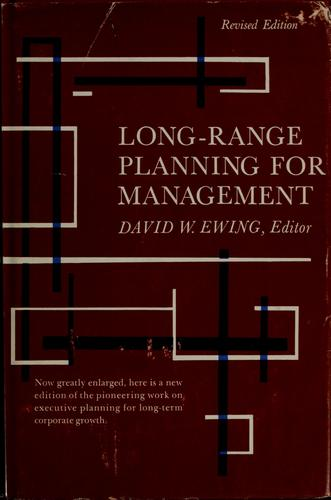 Download Long-range planning for management.