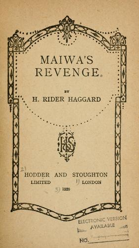 Maiwa's revenge.