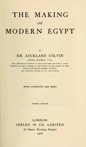 Download The making of modern Egypt.