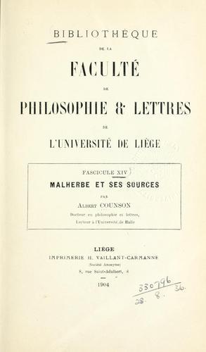 Malherbe et ses sources.
