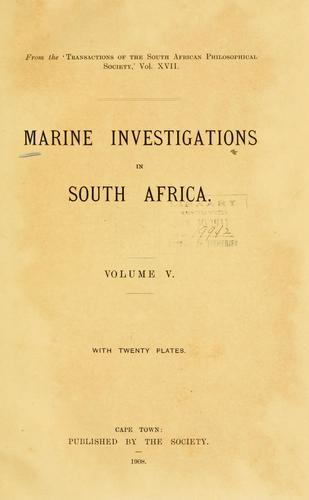 Marine investigations in South Africa.