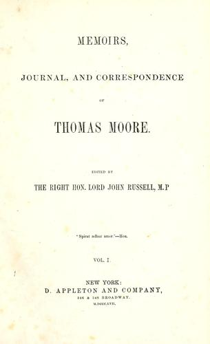 Memoirs, journal, and correspondence