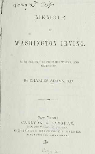 Memoir of Washington Irving.
