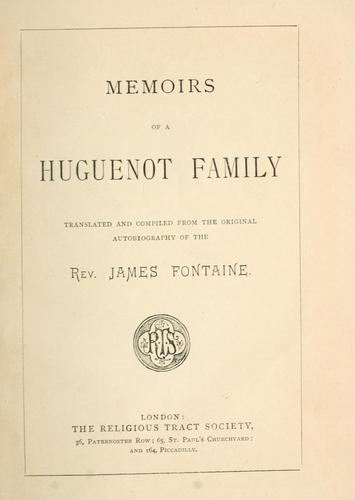 Download Memoirs of a Huguenot family