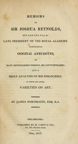 Download Memoirs of Sir Joshua Reynolds …