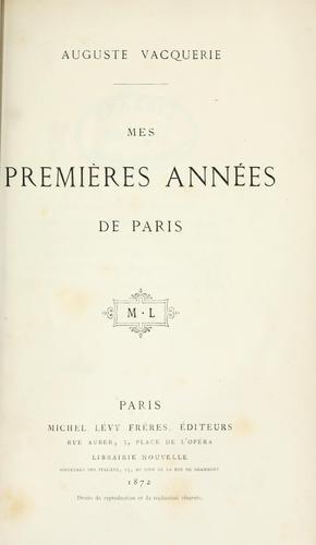Download Mes premières années de Paris.