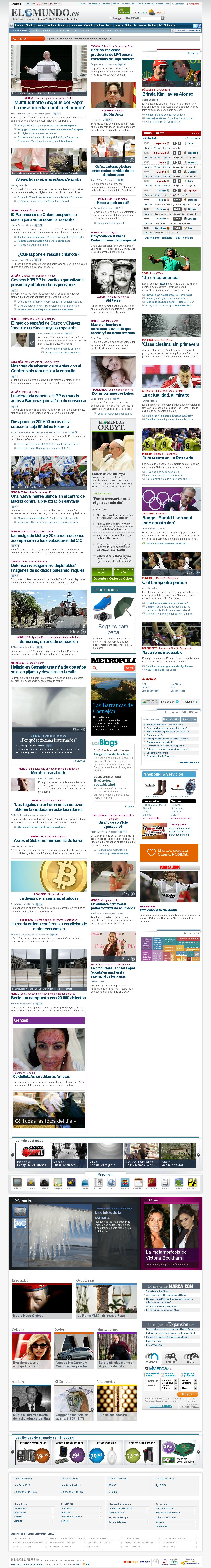 El Mundo at Sunday March 17, 2013, 2:18 p.m. UTC