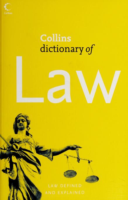 Collins dictionary of law by Stewart, William J.