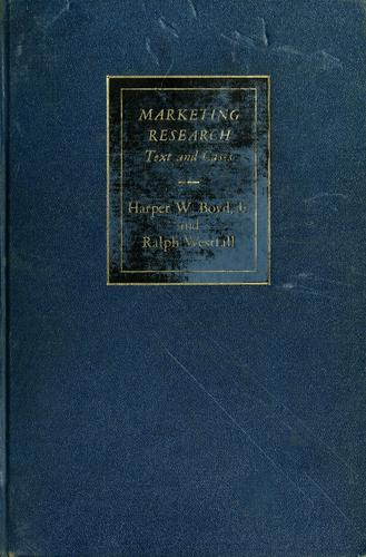 Marketing research by Harper W. Boyd