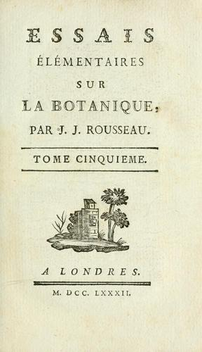 Melanges by Jean-Jacques Rousseau